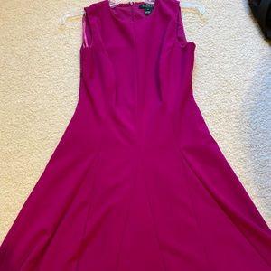 NWOT Ralph Lauren Magenta A-Line Dress, Size 2P